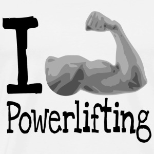 I love Powerlifting T-Shirts - Men's Premium T-Shirt