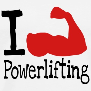 I love Powerlifting_red T-Shirts - Men's Premium T-Shirt
