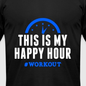 This is my happy hour training funny tee - Men's T-Shirt by American Apparel