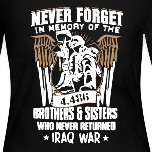 Iraq War Veteran Shirt - Women's Long Sleeve Jersey T-Shirt