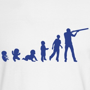 evolution skeet shoots man rifle Long Sleeve Shirts - Men's Long Sleeve T-Shirt