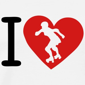 love roller derby heart 1 T-Shirts - Men's Premium T-Shirt