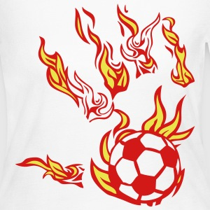 soccer fire flame hand man 1 Long Sleeve Shirts - Women's Long Sleeve Jersey T-Shirt