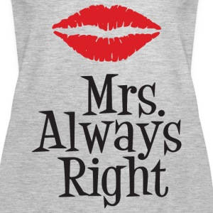 Mrs. Always Right Tanks - Women's Premium Tank Top
