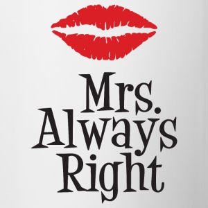 Mrs. Always Right Mugs & Drinkware - Contrast Coffee Mug