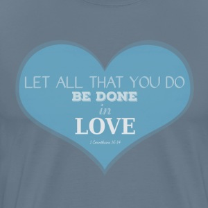 Blue Love T-Shirts - Men's Premium T-Shirt