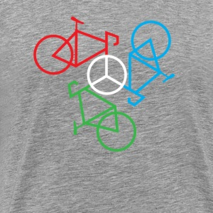 Bike Peace White - Men's Premium T-Shirt