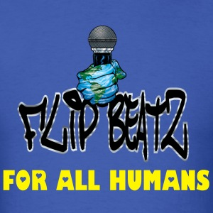I FLIP BEATZ  FOR ALL HUMANS MEN'S TEE - Men's T-Shirt