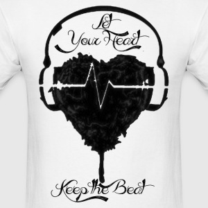 Heart-Beat B/W Tee - Men's T-Shirt