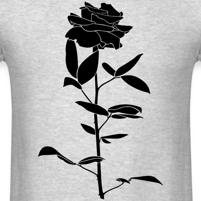 black rose men's tshirt