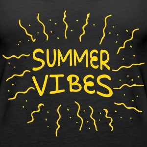 summer vibes with rays of sunshine Tanks - Women's Premium Tank Top