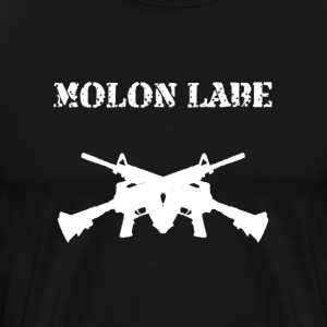 Molon Labe Crossguns - Men's Premium T-Shirt