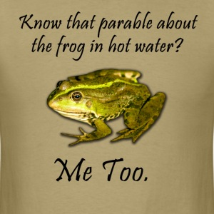 Frog in Hot Water - Men's T-Shirt