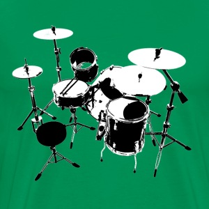 Drumkit (back view) - Men's Premium T-Shirt