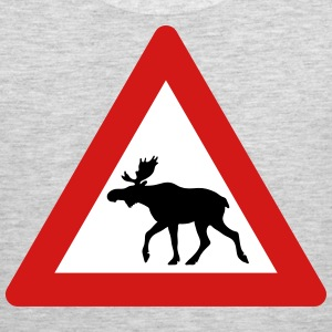 Norwegian Moose Elk Crossing Traffic Sign Sportswear - Men's Premium Tank