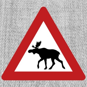 Norwegian Moose Elk Crossing Traffic Sign Sportswear - Snap-back Baseball Cap