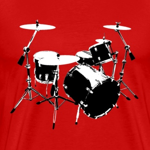 Drumkit (front view) - Men's Premium T-Shirt
