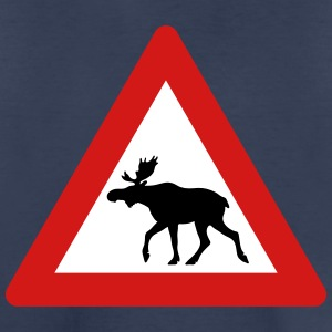 Norwegian Moose Elk Crossing Traffic Sign Baby & Toddler Shirts - Toddler Premium T-Shirt