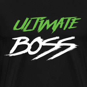 Ultimate Frisbee T-Shirt: Ultimate Boss - Dark - Men's Premium T-Shirt