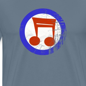 music mod distressed tee T-Shirts - Men's Premium T-Shirt