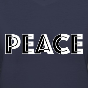 Black and White Peace T-Shirts - Women's V-Neck T-Shirt