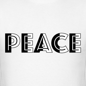 BW Peace Black Outline T-Shirts - Men's T-Shirt
