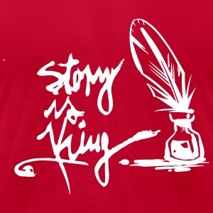 Men´s T-Shirt Story is King,Stephen is King red - Men's T-Shirt by American Apparel