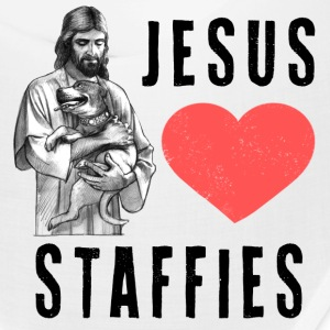 Jesus Loves Staffies (B) Caps - Bandana