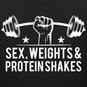 sex weights and protein shakes Sportswear - Men's Premium Tank