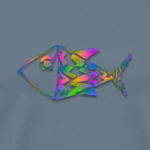 Abstract Fish Newsprint - Men's Premium T-Shirt