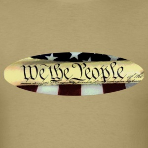 We the People oval T shirt - Men's T-Shirt