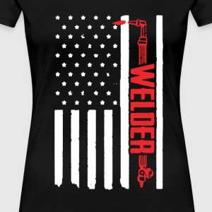 Welder Flag Shirt - Women's Premium T-Shirt