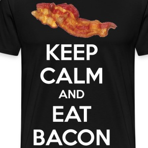 Keep Calm and Eat Bacon T-Shirts - Men's Premium T-Shirt