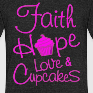 Funny Cupcake - Unisex Tri-Blend T-Shirt by American Apparel