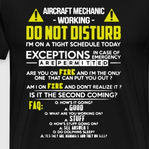 Aircraft Mechanic Working - Men's Premium T-Shirt