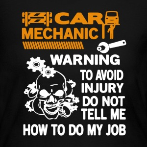 Car Mechanic Warning  - Women's Long Sleeve Jersey T-Shirt