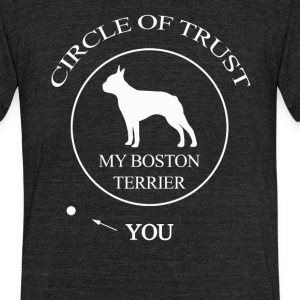 Funny Boston Terrier Dog - Unisex Tri-Blend T-Shirt by American Apparel