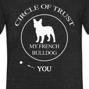 Funny French Bulldog - Unisex Tri-Blend T-Shirt by American Apparel