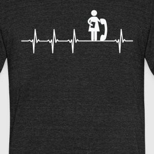 Secretary Job Heartbeat Love  - Unisex Tri-Blend T-Shirt by American Apparel
