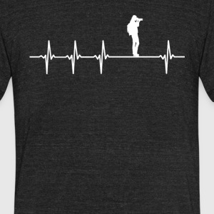 Photographer Job Heartbeat Love - Unisex Tri-Blend T-Shirt by American Apparel