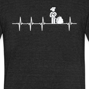 Archaeologist Job Heartbeat Love - Unisex Tri-Blend T-Shirt by American Apparel