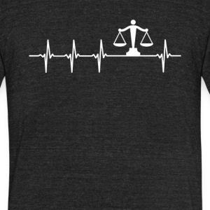 Lawyer Job Heartbeat Love - Unisex Tri-Blend T-Shirt by American Apparel
