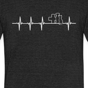Veterinary Job Heartbeat Love - Unisex Tri-Blend T-Shirt by American Apparel