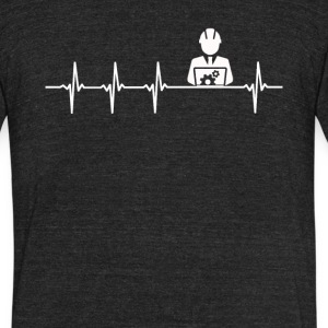 Computer Engineer Job Heartbeat Love - Unisex Tri-Blend T-Shirt
