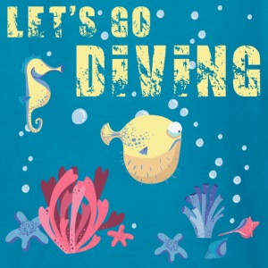 lets_go_diving_07201602 Kids' Shirts - Kids' T-Shirt