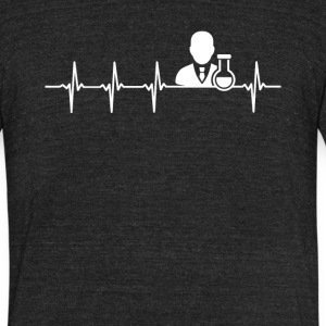 Chemist Job Heartbeat Love - Unisex Tri-Blend T-Shirt by American Apparel