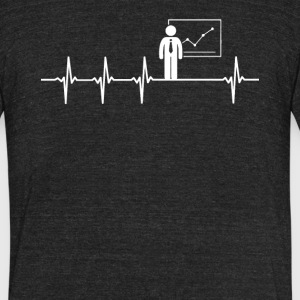 Budget Analyst Job Heartbeat Love - Unisex Tri-Blend T-Shirt by American Apparel