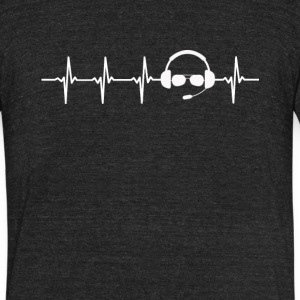 Pilot Job Heartbeat Love - Unisex Tri-Blend T-Shirt