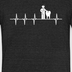 Dentist Job Heartbeat Love - Unisex Tri-Blend T-Shirt by American Apparel