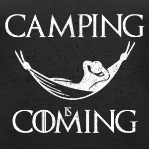 Camping is Coming - Women's Premium Tank Top